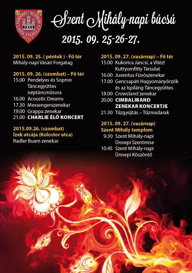 mihály napi köszöntő Szent Mihály napi búcsú   Programok :: ProKultúra Sopron mihály napi köszöntő